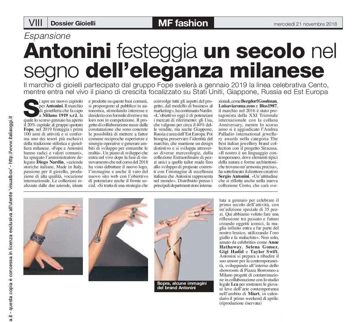 MF FASHION Anniversary100 Antonini